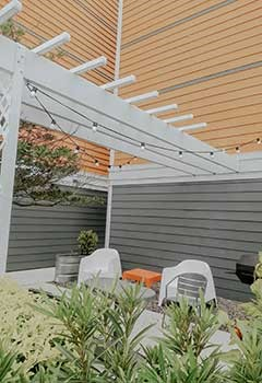 Pergola With Motorized Canopy In Los Angeles Home